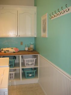 The Laundry Room: Before and Aftervia TheKimSixFix.com