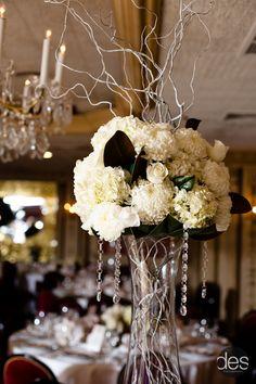 Dramatic Innovation - Floral Design - Florist - Event Design - Tall Wedding Centerpiece