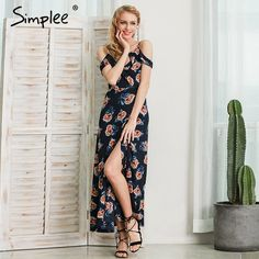 Simplee White floral print ruffle chiffon long dress Women strap v neck maxi dresses Sexy beach summer dress backless vestidos