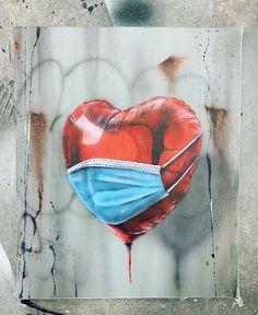 3d Street Art, Street Art Graffiti, Graffiti Artists, Gas Mask Art, Masks Art, Art Sculpture, Abstract Sculpture, Metal Sculptures, Art Triste