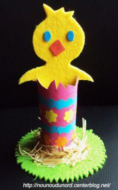 Poussin de Pâques dans son œuf, explications sur mon blog