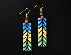 Mural Jewellery - Long Earrings