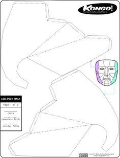 Resultado de imagen para paper mask template free printable by Wintercroft