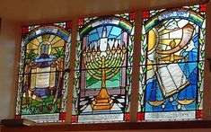 Stained Glass Windows in the Welwyn Garden City Synagogue