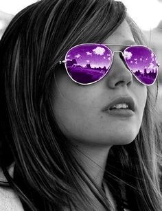 A fun image sharing community. Explore amazing art and photography and share your own visual inspiration! Mirrored Sunglasses, Sunglasses Women, Glitter Graphics, Purple Glitter, Shades Of Purple, Color Splash, Amazing Art, Favorite Color, Colour