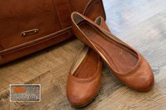 Frye saddle brown ballet flats  #rightonbroadway #mystyle #Frye