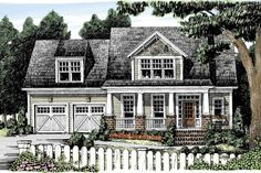 Craftsman Exterior - Front Elevation Plan #927-887