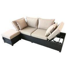 Pembridge Garden Sofa with Adjustable Sides