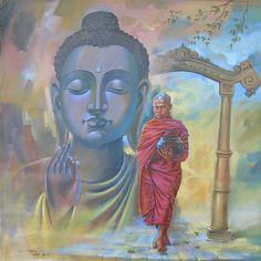 Divine Blessings 2 - Portrait/Figures Acrylic Painting | World Art Community