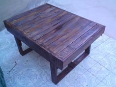 Coffee table made from pallets #CoffeeTable, #Pallet  Paletten yapılmış Kahve masası
