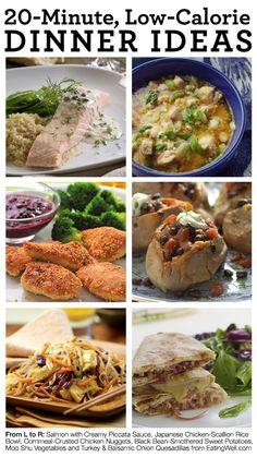 20-Minute, Low-Calorie Dinner Ideas