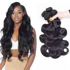 SiJi Mei Brazilian Hair 3 Bundles Body Wave Human Hair Unprocessed Brazilian Extensions natural color body wave Mixed Length (10 12 14) Sale:$39.90