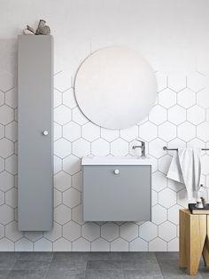 | Badrumsinspiration | Nytt badrumsskåp i serien Compact. För dig med mindre badrum - här i färgen grått. | Ballingslöv.