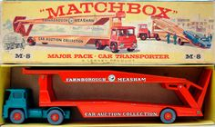 Vintage Toys Wanted by the-toy-exchange - Boxed diecast Lesney Matchbox M-8 Major Pack FARNBOROUGH MEASHAM CAR TRANSPORTER.