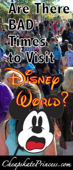 "is there no ""Bad Time"" to Visit Walt Disney World? 1st Trip to Disney, plan a Disney vacation, Disney tips, Disney Cheapskate Princess"