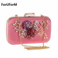 e0734c9100a Luxury Designer Fashion Women s Rose Gold Evening Bag Clutch for Wedding  Bridal Crystal Pearl Flower Clutches Dinner Bags