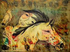 Heart Song  24″ x 18″ Acrylic on gallery wrapped canvas by Pegi Smith  Original painting and prints available at pegismith.com