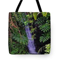"Hidden Waterfall Tote Bag 18"" x 18"""
