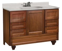 "Pace Roma Series 48"" x 21"" Vanity with Bottom Drawer at Menards"
