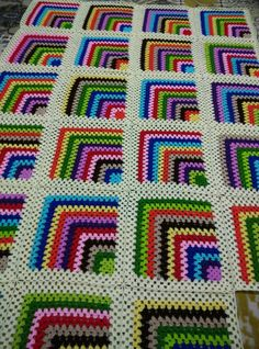 Love scrap use maybe that happens to all old knitters and crocheters lol jh crochet fox crochet gifts love crochet crochet granny crochet squares crochet lace crochet motif crochet stitches crochet patterns – Artofit Searched thru Goog - Salvabrani Have Crochet Square Blanket, Crochet Quilt, Granny Square Crochet Pattern, Afghan Crochet Patterns, Crochet Squares, Crochet Motif, Baby Blanket Crochet, Crochet Baby, Patchwork Blanket