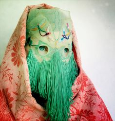 Damselfrau is Norwegian artist Magnhild Kennedy; a craftswoman and mask maker