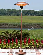 Our Copper Finish Floor Standing Round Halogen Patio Heater introduces a new revolution in outdoor heating. This halogen patio heater runs on regular household electric current and is substantially less expensive to operate than propane patio heaters. Fire Sense Patio Heater, Propane Patio Heater, Outdoor Heaters, Infrared Heater, Outdoor Living, Outdoor Decor, Outdoor Furniture, Courtyards