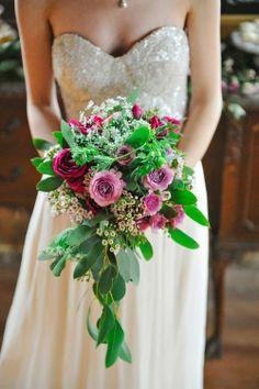 Gorgeous pink bridal bouquet