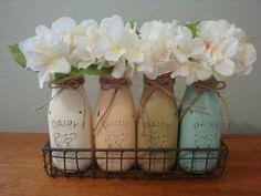 Milk Bottle Vase Set 17 Additional Color Options Set by ItWorks4Me