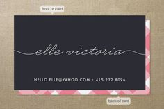 Mommy calling cards! Genius...someday when I'm a mommy, I will have these...