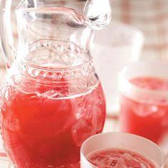 Cranberry Fizz. Ingredients: 1 bottle (32 ounces) cranberry juice, 1 cup orange juice, 1 cup ruby red grapefruit juice, 1/2 cup sugar, 2 cups ginger ale, chilled