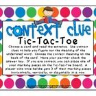 Help your students develop their context clue reading skills with this simple, yet effective tic-tac-toe game freebie!  It's easy to put together a...