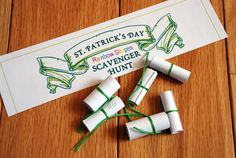 St Patrick's Day Rainbow Shapes Scavenger Hunt (younger kids)