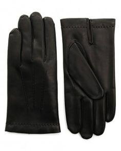 Gants en cuir noir Agnelle pour homme  gant  agnelle  cuir Gants Cuir Homme 3b83ee23b52