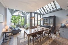 Roof light and conservatory extension, London. Via RDuJour.