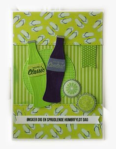 Card soft drink soda bottle, refreshing cool time, MFT soda pop bottles Die-namics MFT-764, MFT Bottlecaps MFT-754 Die-namics, MFT Soda Pop stamp set, banner elements from MFT Blueprints 31 Die-namics, Echo Park Beach Day  paper pad - JKE