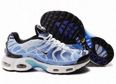 Nike Air Max TN Men's Running Shoe White Black University Blue :))))