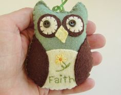 Owl Christmas Ornament Owl Ornament Felt by purelysimpledesigns, $8.25