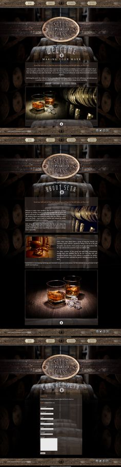 Seth's Tales   Branding, Web Design   Seth's Tales was inspired by a chance meeting with a pub braggart and a group of distillery craftsman and business interests. Set to Launch next year this campaign was constructed from its branding and identity up