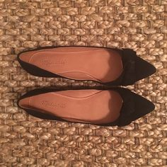 Madewell The Lois Flat New flats, never worn. Black suede. Please note: would best fit gals with shoe size btw 7.5 - 8. Madewell Shoes Flats & Loafers