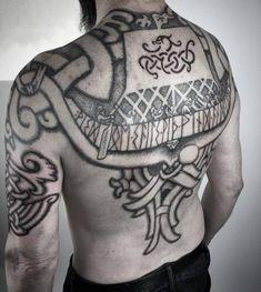 Vikings and good dot work. Back Tattoos, Body Art Tattoos, Tribal Tattoos, Tattoos For Guys, Sleeve Tattoos, Cool Tattoos, Tattoo Maori, Samoan Tattoo, Polynesian Tattoos
