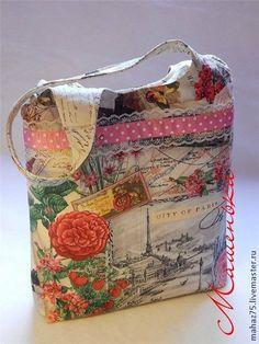 """Сумка """"Путешествия"""" - рисунок,Париж,сумка,сумка из хлопка,летняя сумка"""