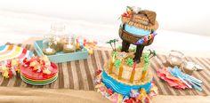 How-To Make a Tiki Hut Cabana Cake