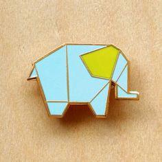 » Origami Elephant Brooch