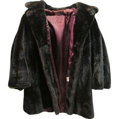 Vintage Tocci Imports Faux Fur Mink Coat Jacket Womens Size 12 Large ❤ liked on Polyvore featuring outerwear, coats, jackets, tops, faux mink coat, imitation fur coats, mink lined coat, mink fur coat and fake fur lined coats