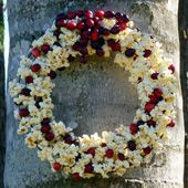 Popcorn Cranberry Wreath for Birds