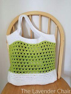 Lazy Daisy Market Bag Crochet Pattern - The Lavender Chair