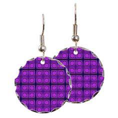 Round Mod Earrings Pink Circle pattern #cafepress #jewelry #fashion #style