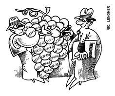 Caricatura de NIC. LENGHER, publicata in almanahul PERPETUUM COMIC '97 editat de URZICA, revista de satira si umor din Romania