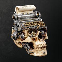Tribal Tattoos, Steampunk Clock, Half Face Mask, Gears Of War, Skull Design, Artsy, Skulls, Bones, Artwork