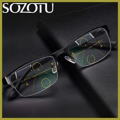 28e84f66d69 Multi-focal Progressive Reading Glasses Men Women Presbyopic Spectacles  Eyeglasses Unisex Eyewear +1.0+